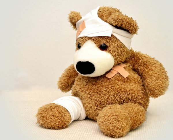 Brown and white bear plush toy 42230 600x486